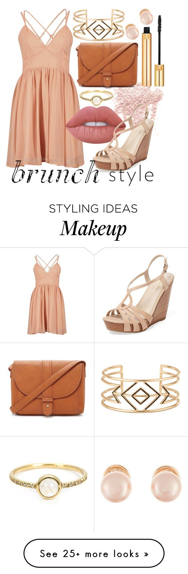 """""""Untitled #281"""" by em99h on Polyvore featuring Bare Escentuals, Yves Saint Laurent, Lime Crime, Seychelles, Forever 21, Stella & Dot, Kenneth Jay Lane and Irene Neuwirth"""