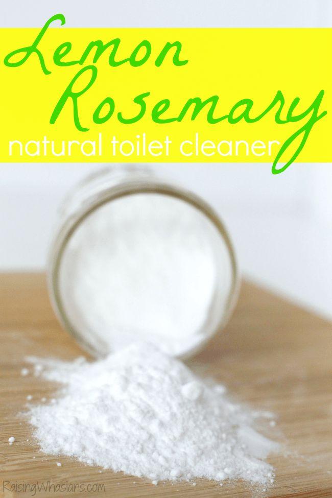 DIY Lemon Rosemary Natural Toilet Cleaner + 6 Bathroom Toilet Cleaning Tips #SpringClean16 #Walmart (AD)