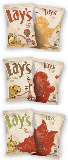 Great design! Student work for packaging and logo design for lays chips.