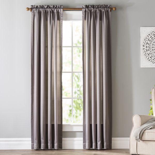 Wayfair Basics Solid Room Darkening Thermal Rod Pocket Single Curtain Panel Panel Curtains Curtains Curtains Living Room
