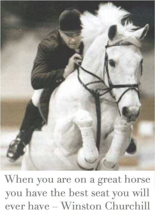Winston Churchill, a true horse lover.