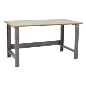 Bench Pro Roosevelt 1600 lb. Workbench with High Density Particle Board Top Size-Color - 72W x 24D in. - Grey by Bench Pro. $269.99. The Bench Pro Roosevelt 1600 lb. Workbench with High Density Particle Board Top is perfect for all-around use in the basement, workshop, auto shop, or garage. The high-density top is tough, versatile, and replaceable. The surface sits on a 13-gauge steel frame that's powder-coated and height-adjustable from 30 to 36 inches. Massive weight...