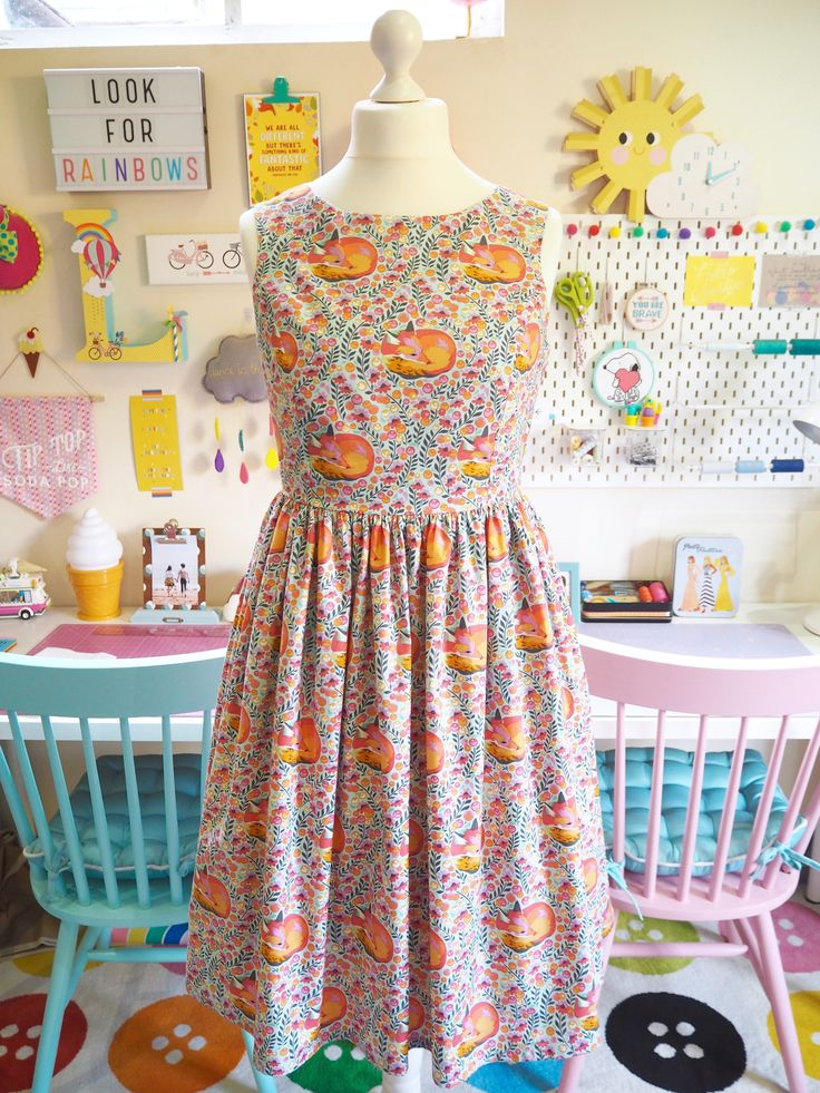 Smile & Make - COMING SOON: Made To Order - Floral Foxes Picnic Dress
