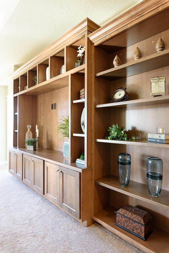 Great Room Built In | Built in cabinets, New homes, Great ...