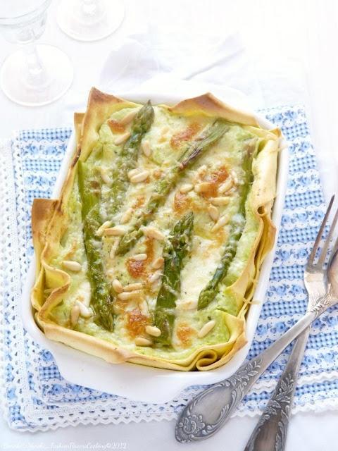 Lasagne di primavera .. the receipe is in Italian ... so I'll need to wing it...