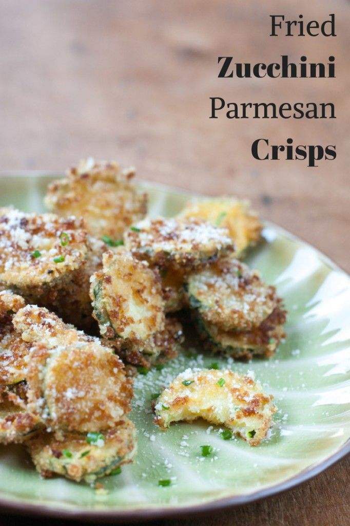 Fried Zucchini Parmesan Crisps - thekitchensnob.com #recipe #appetizer #zucchini