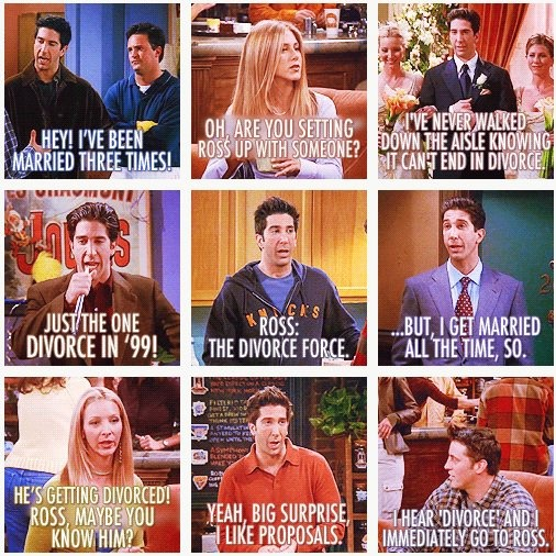 """On His Tombstone It Will Say """"Ross Gellar-good Marriage"""