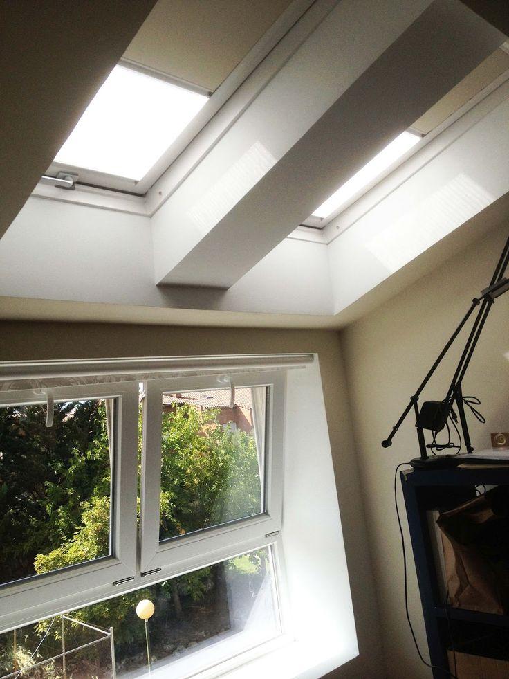 Apertura de huecos en cubierta. Ventanas Velux y ventana de PVC