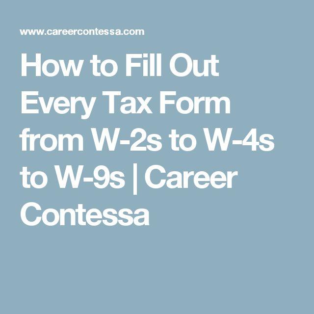 Best 25+ W4 tax form ideas on Pinterest | Tax refund, W 4 form and ...