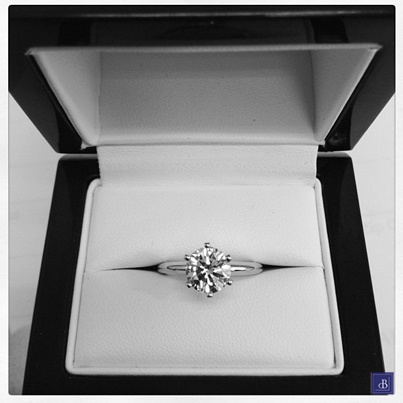 There is nothing more perfect than a classic, solitaire engagement ring from deBebians.