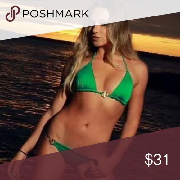 Green VS bikini Green toggle bikini Victoria's Secret Swim Bikinis