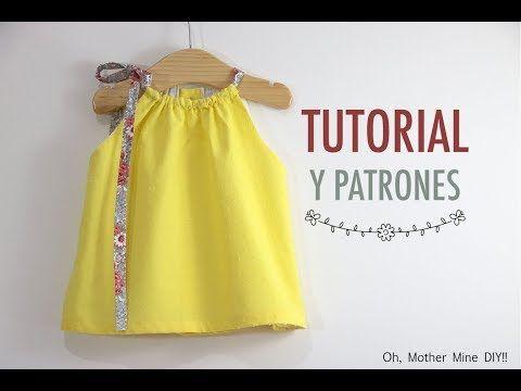 6bf3244fe Costura  Vestido con volantes para niñas (patrones gratis talla hasta 8 años)  - YouTube
