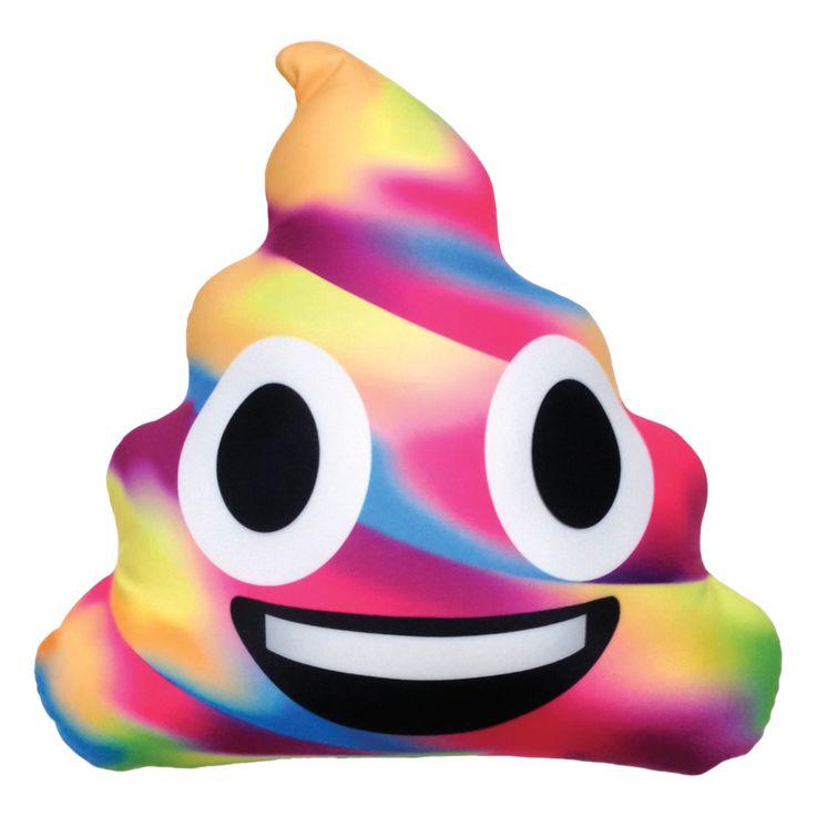 Unicorn Poop Emoji Microbead Pillow