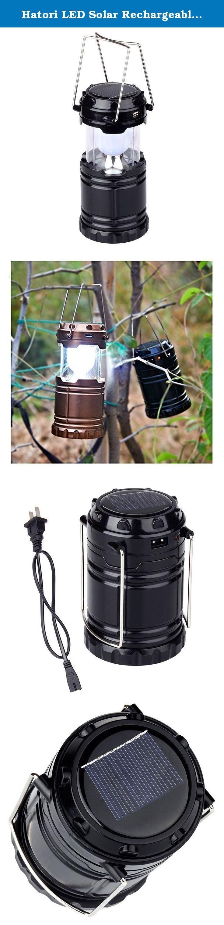 Hatori LED Solar Rechargeable Camping Lantern, Emergency