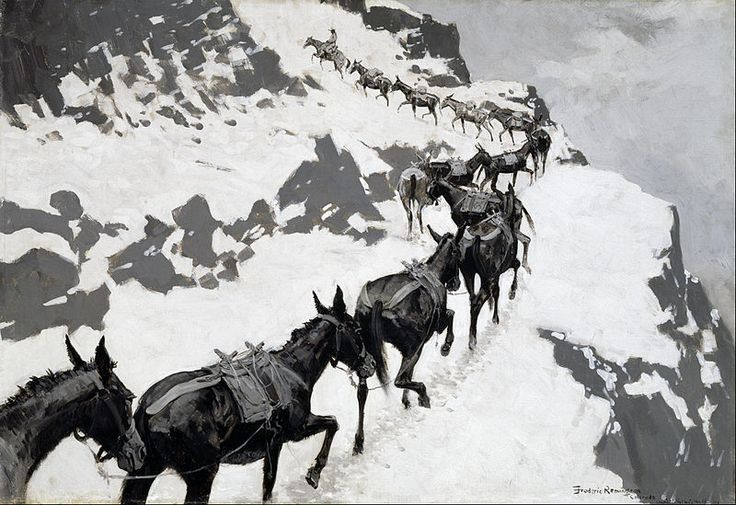 File:Frederic Remington - The Mule Pack - Google Art Project.jpg