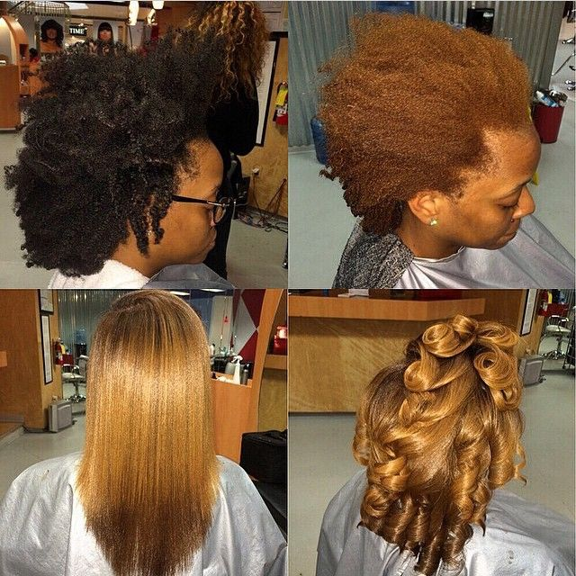 Stylist Feature This Natural Hair Transformation Done By Atlantastylist Madam Stushstyles Is Amazing Beautiful Color And Silk Press Voiceofhair