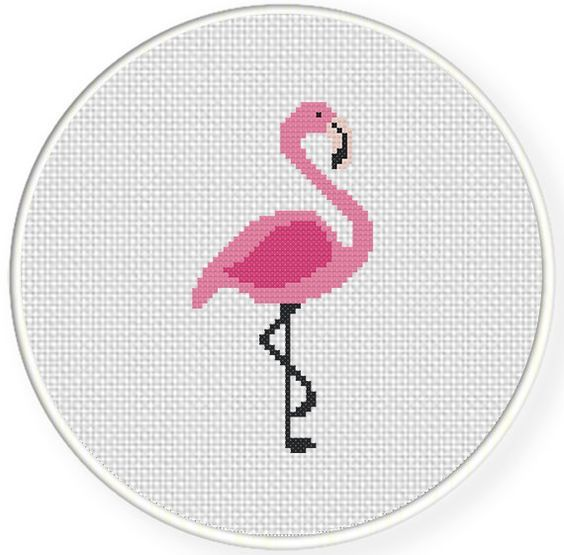 ponto cruz flamingo - Pesquisa Google