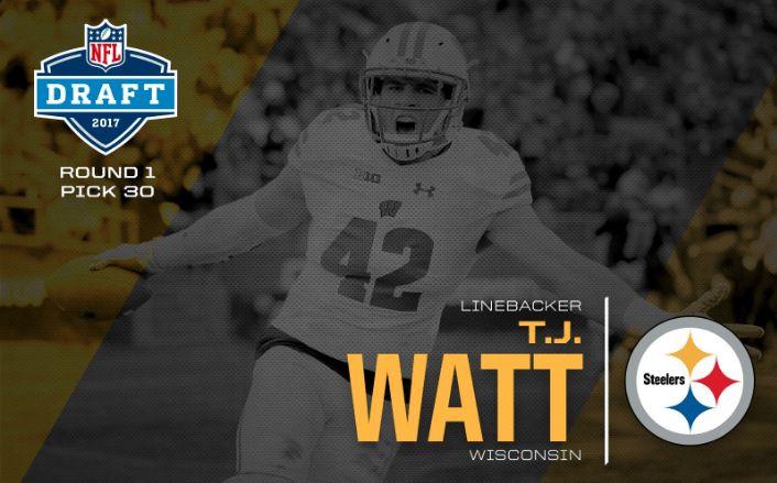 Say Watt? Steelers take T.J. Watt in first round of NFL Draft