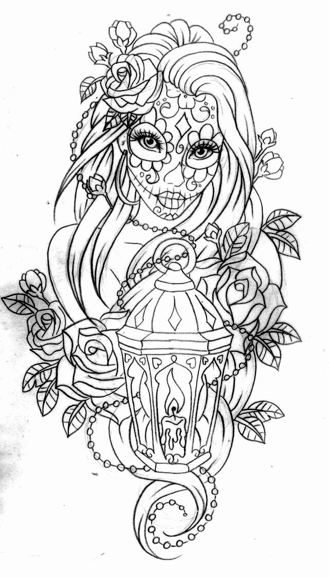 - Tattoo Coloring Book Pages Elegant Day Of The Dead Coloring Page Coloring  Pages Momma In 2020 Skull Coloring Pages, Tattoo Coloring Book, Mandala  Coloring Pages