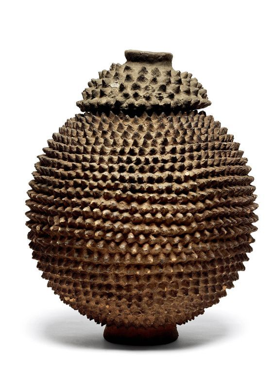 Terracotta - 31 cm Burkina Fasso Spherical-shaped and covered with ...