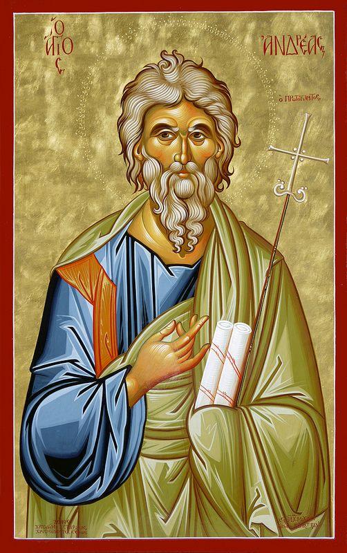 Ο Άγιος Απ. Ανδρέας ο Πρωτόκλητος; Saint Apostle Andrew; Санкт апостол Андрей
