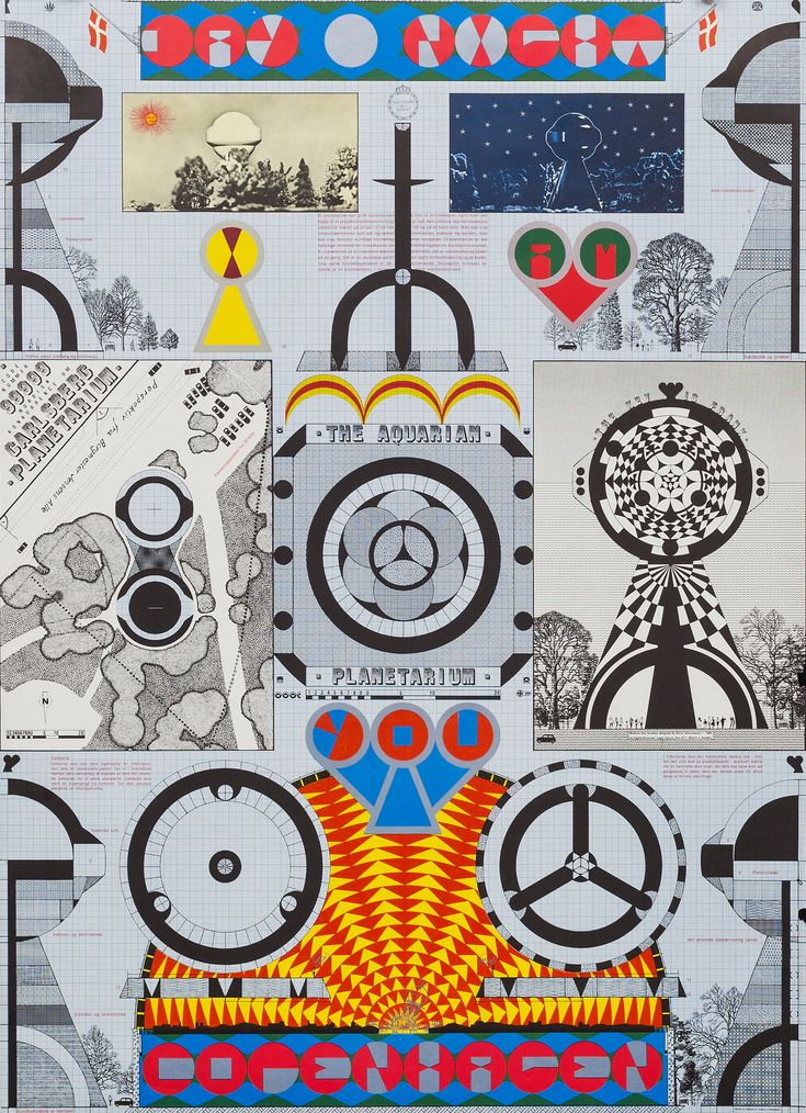 """Sture Johannesson, """"Aries Pisces Aquarius""""  Executed in 1969. Poster, offset in colours, 100 x 70 cm"""