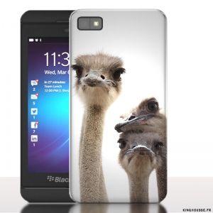 Coque Blackberry z 10 Autruche - Housse rigide pour téléphone portable. #coquetelephone #BlackBerry #Z10 #Autruche #Fun