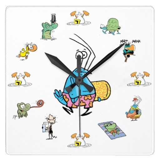 Watch the clock at work or at home covered in Swamp characters with Bob the Crayfish as the main attraction. $39.95 #clock #cartoons #zazzle