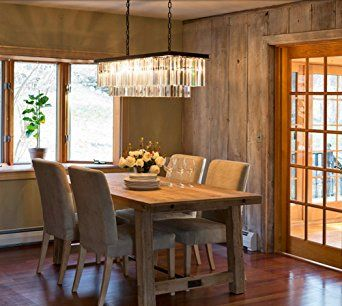 linear chandelier dining room. linear chandelier dining room with