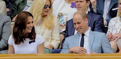 mistletoe kisses & cocoa — The PDA was strong today at Wimbledon with Wills &...