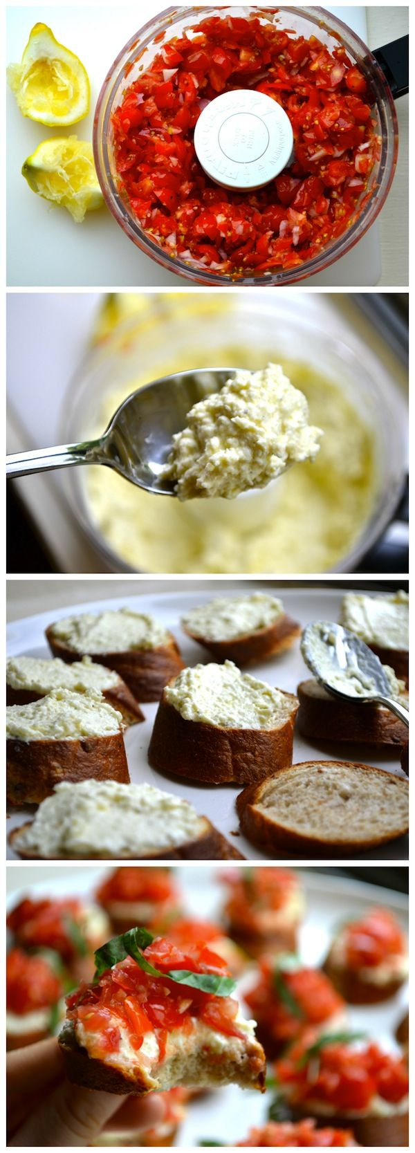 """This got a """"may be the best thing you've ever made"""" from the husband. That's a big deal, folks. Whipped Feta Crostini. This thing is worth a try."""
