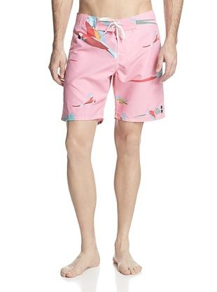 55% OFF ambsn Men's Parrot Boardshort (Pink)