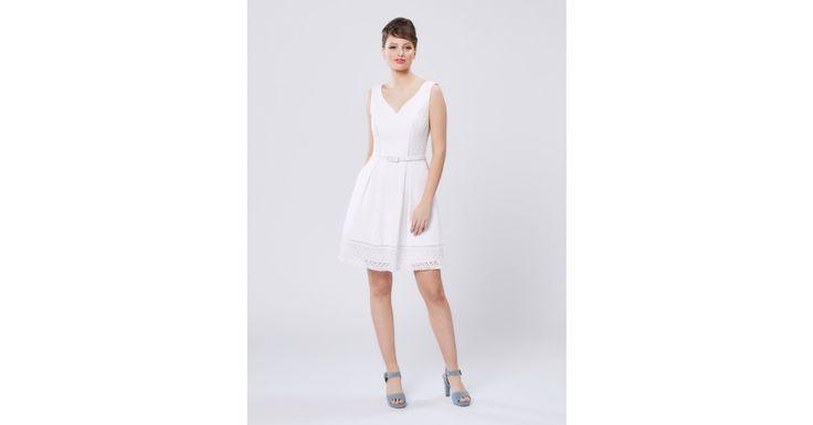 Review Australia - Pick A Posy Dress White