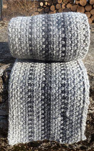 Man's scarf - free pattern