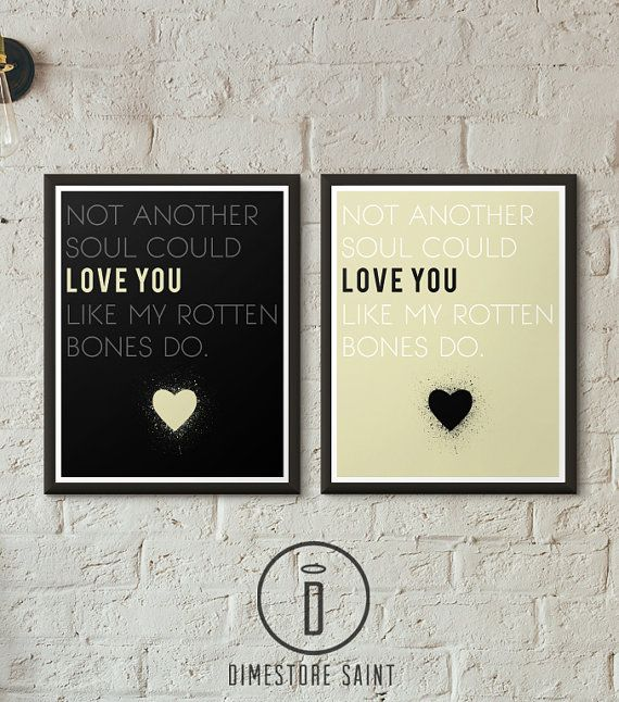 Gaslight Anthem Brian Fallon Lyric Print by DimestoreSaintDesign