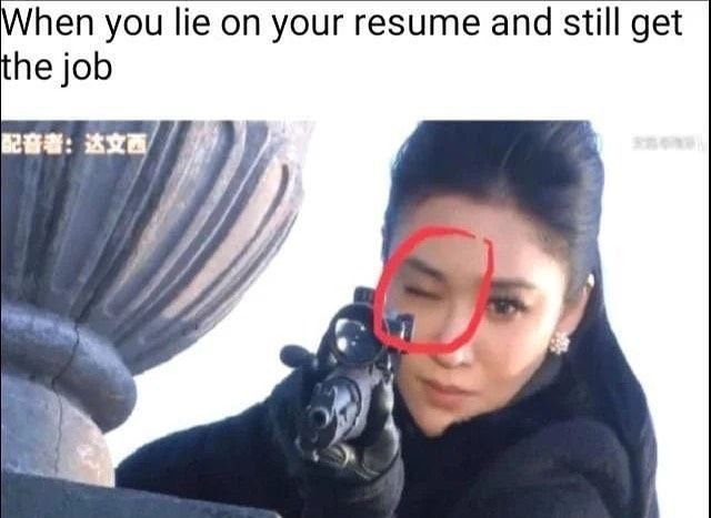 When You Lie On Your Resume And Still Get The Job Abs Aesthetic Aesthetics Bodybuilding Bodybuilder Cardi Daily Funny Funny Photos Clean Funny Memes