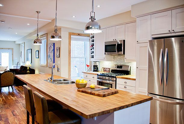 Brock Street Renovation - The kitchen is in the center of the house making it the focal point.  The ten foot long island is the perfect place to sit with friend and family and share a glass of wine.