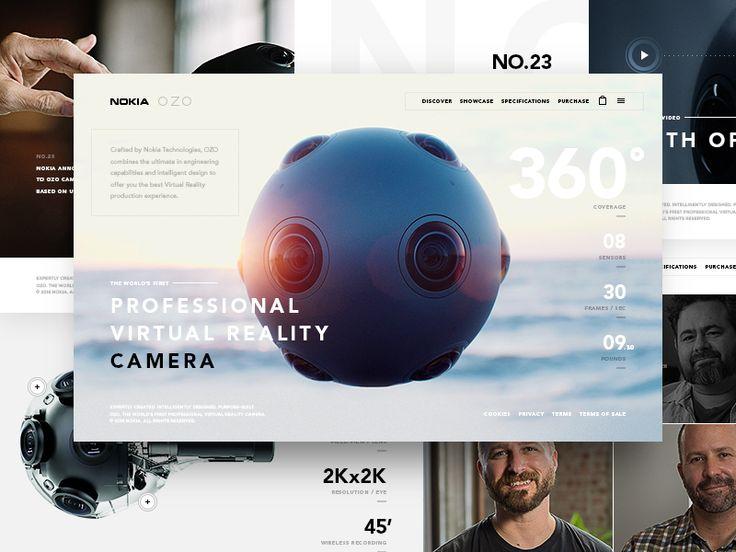 Nokia OZO - website by Viktor Vörös