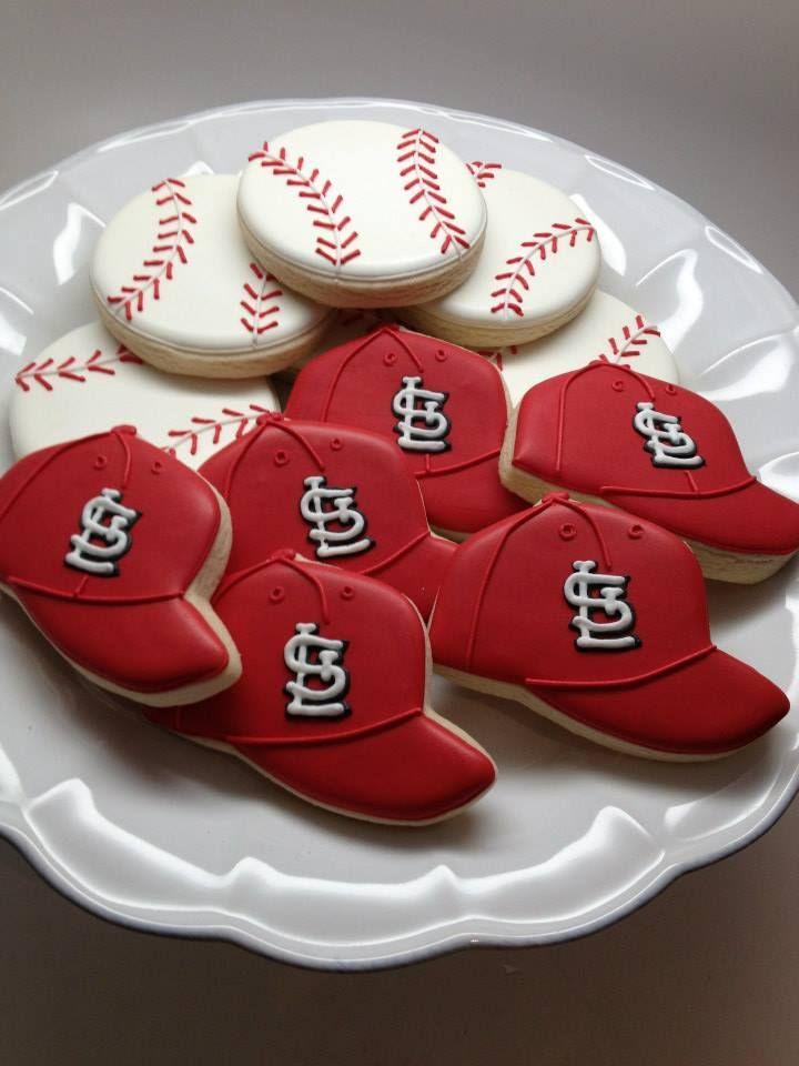 baseball cookies. Teresa, love the baseballs for your boys!                                                                                                                                                      More