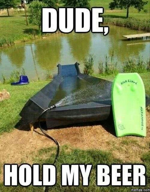 Hell yes. Homemade pond slide