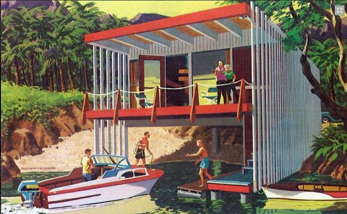 From Second Homes For Leisure Living 1960 Published By The Douglas Fir Plywood Association