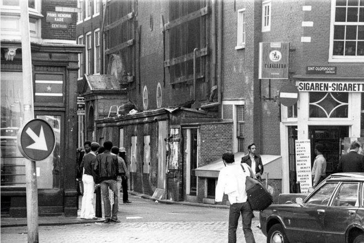 1970's. Entrance to the Zeedijk in Amsterdam. #amsterdam #1970 #zeedijk