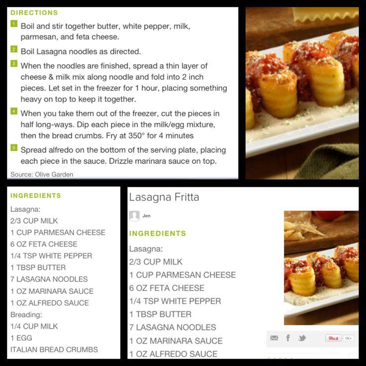 Olive Garden lasagna fritta!!! Yum