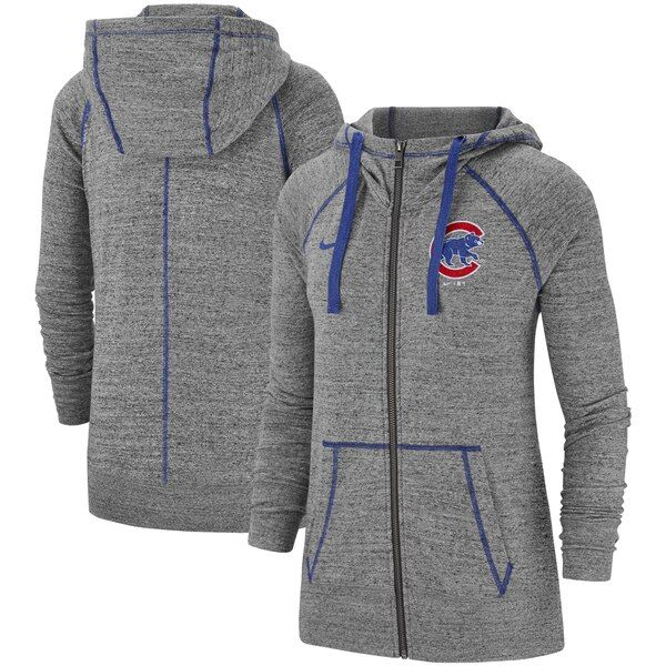 Chicago Cubs Nike Women S Gym Vintage Team Full Zip Hoodie Gray Chicagocubs In 2020 With Images Full Zip Hoodie Zip Hoodie Nike Women