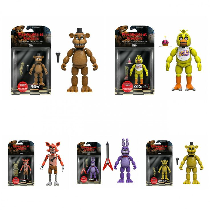 Set Of 5 Funko Five Nights At Freddy S 5 Quot Five Night
