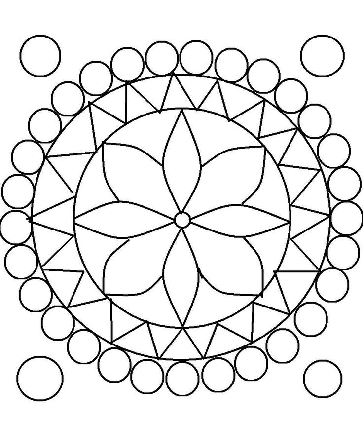 Design Coloring Pages for Teens | Rangoli design coloring printable Page for kids 9