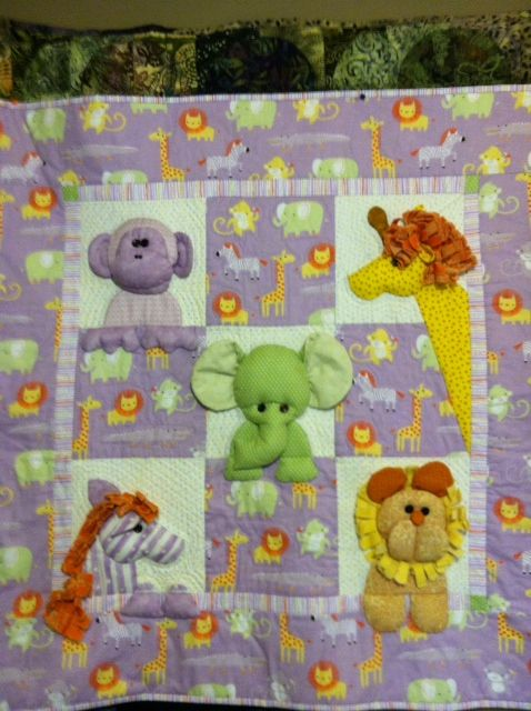 Very cute 3D quilt that should be a well loved treasure for young children,