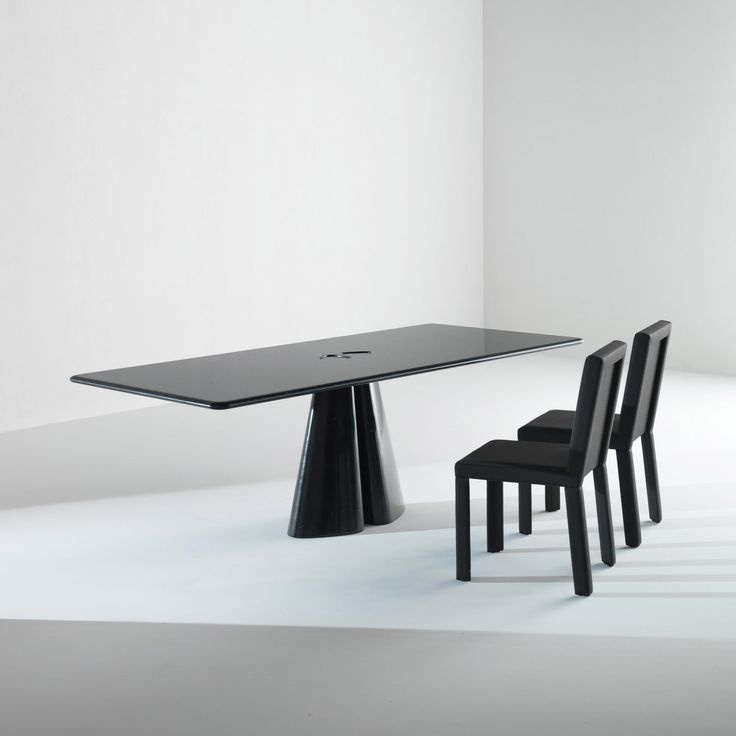 Raja Table BD 44 R by Bartoli Design. Rectasngular table completely made in marble Black Marquinia, with base joint on the top. A minimal yet sophisticated design combines with the choice of the finest marbles, respecting Laurameroni attention to details and materials. | Laurameroni