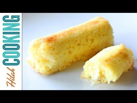 Twinkies!  Recipe @ http://hilahcooking.com/homemade-twinkie-recipe/