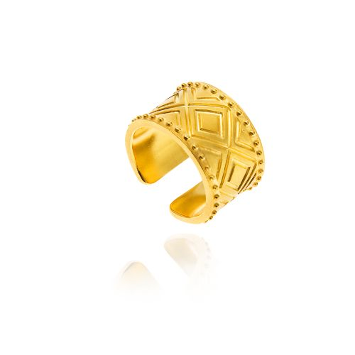 Princesses of the Mediterranean band ring in silver gold plated.